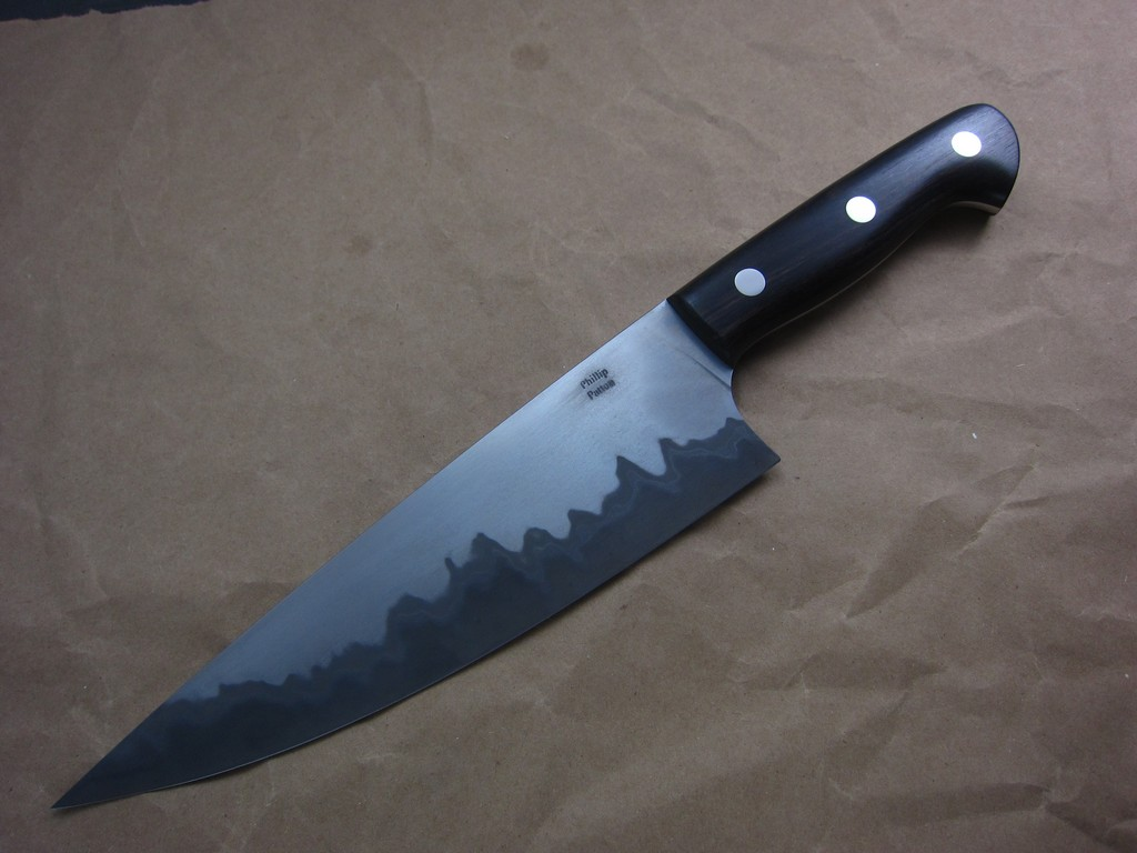 black chefs knife. Black Bedroom Furniture Sets. Home Design Ideas